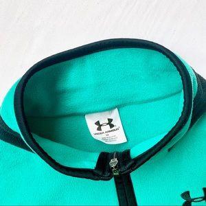 Under Armour Jackets & Coats - UNDER ARMOUR • TEAL BLUE HENLEY 1/4 ZIP SWEATSHIRT